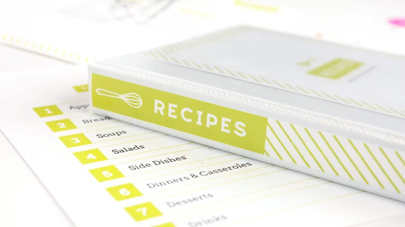 Diy Recipe Book (With Free Printable Recipe Binder Kit!) - Free Printable Recipe Binder