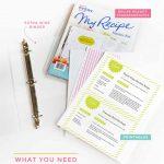 Diy Recipe Book (With Free Printable Recipe Binder Kit!)   Free Printable Recipe Binder Templates