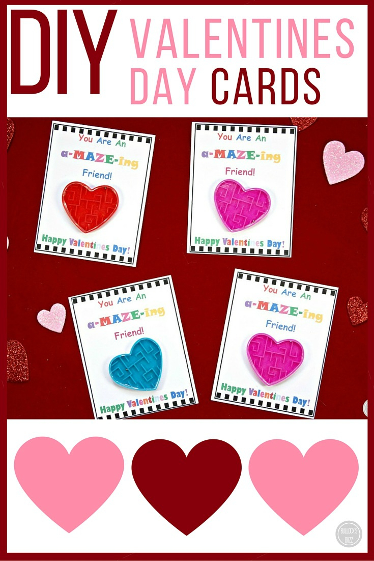 Diy Valentine's Day Cards For Kids With Free Printable! - Bullock's Buzz - Free Printable Valentines Day Cards For Kids