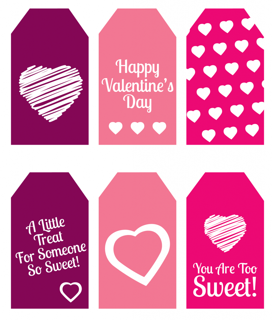 Diy Valentine's Day Gift: Mini Candy Boxes & Printable Gift Tags - Free Printable Valentines Day Tags
