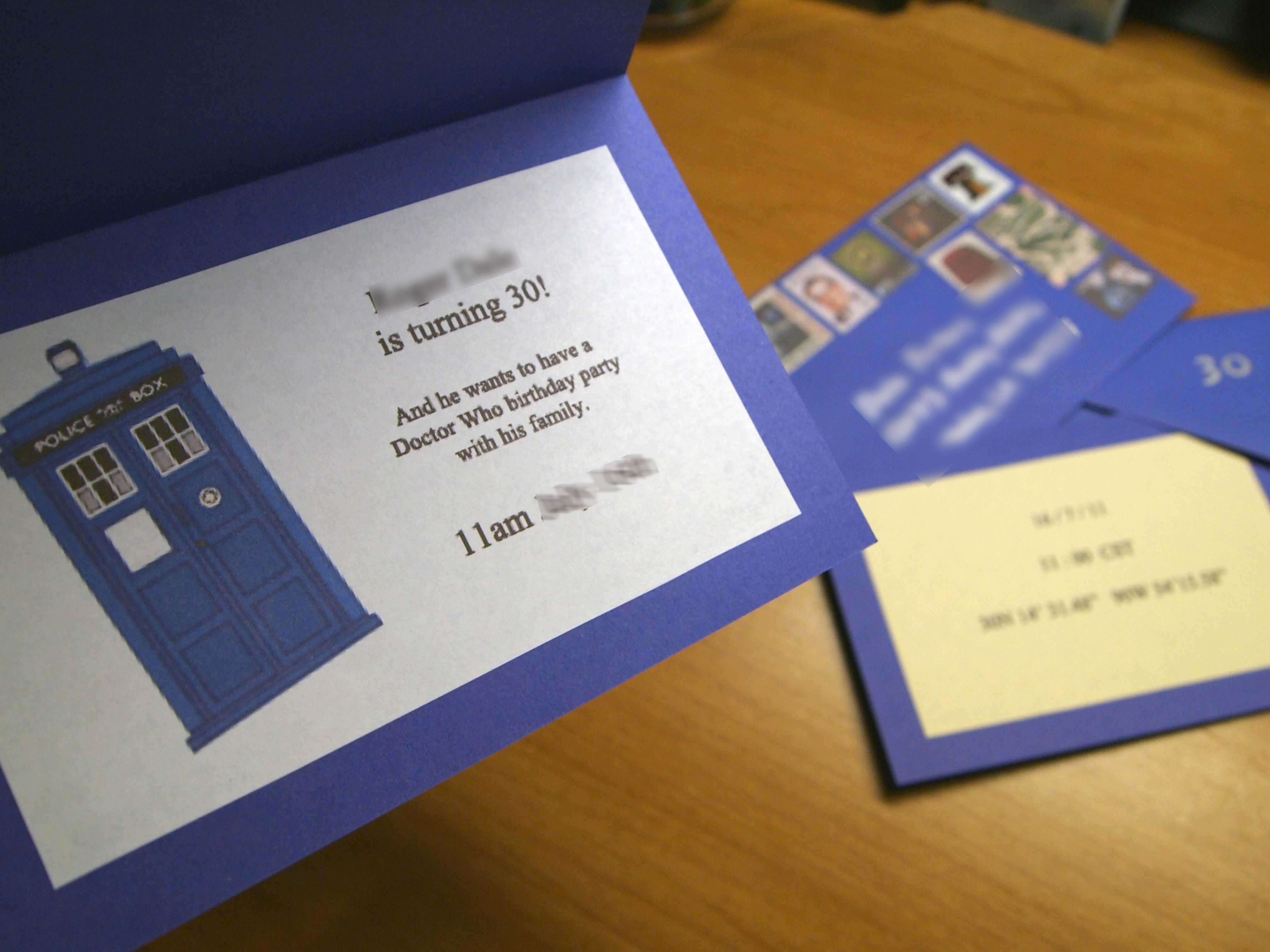 Doctor Who Invitations | Random Creativity - Doctor Who Party Invitations Printable Free