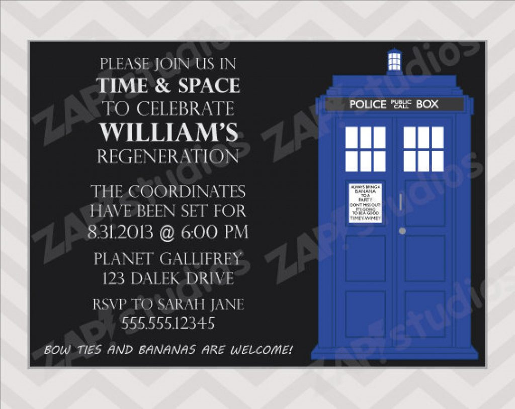 Doctor Who Party Invitations Printable Free | Free Printable - Doctor Who Party Invitations Printable Free