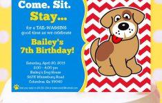 Dog Birthday Invitations Free Printable