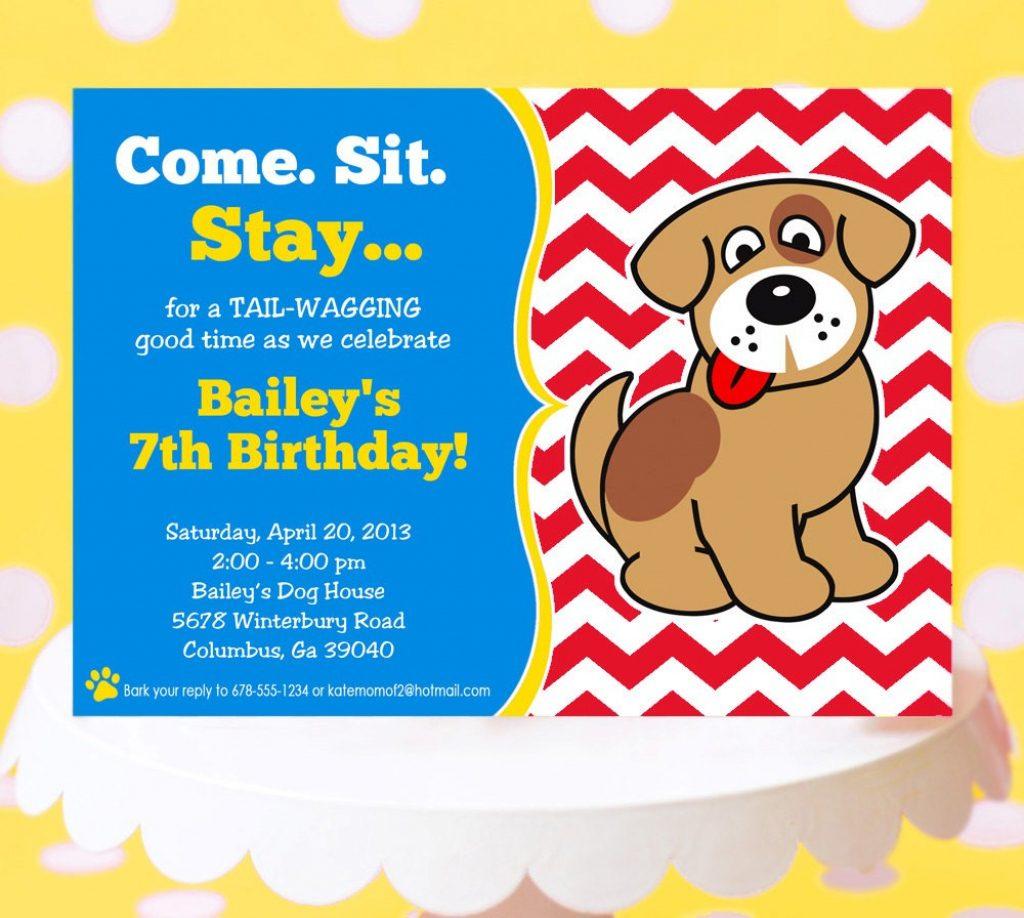 Dog Birthday Invitations Free Printable – Birthday Invitation - Dog Birthday Invitations Free Printable