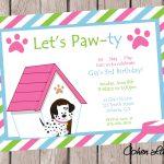 Dog Birthday Party Invitations Dog Birthday Party Invitations For   Dog Birthday Invitations Free Printable