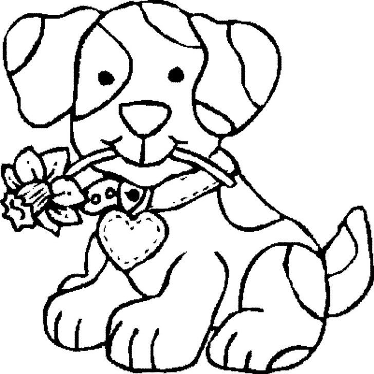 Colouring Pages Dogs Free Printable