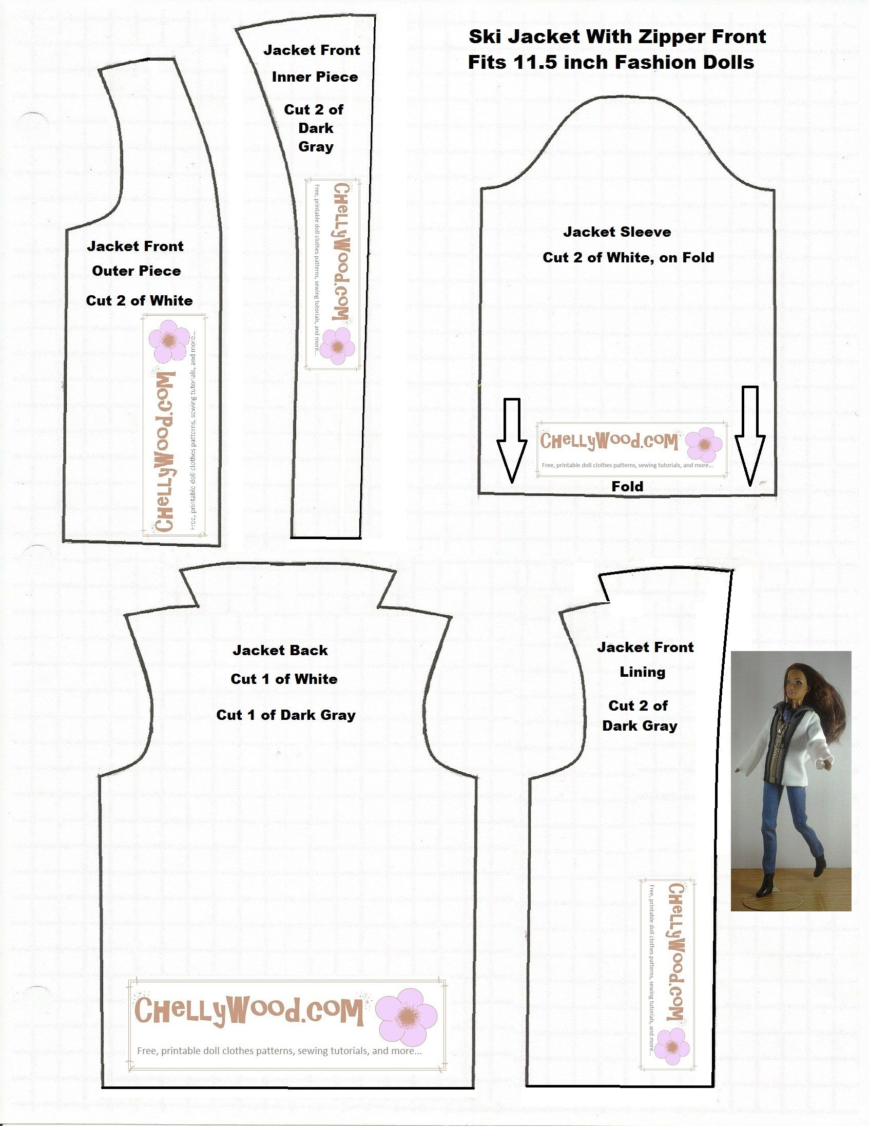 image regarding Printable Barbie Clothes Patterns referred to as No cost Printable Behaviors For Sewing Doll Apparel Totally free
