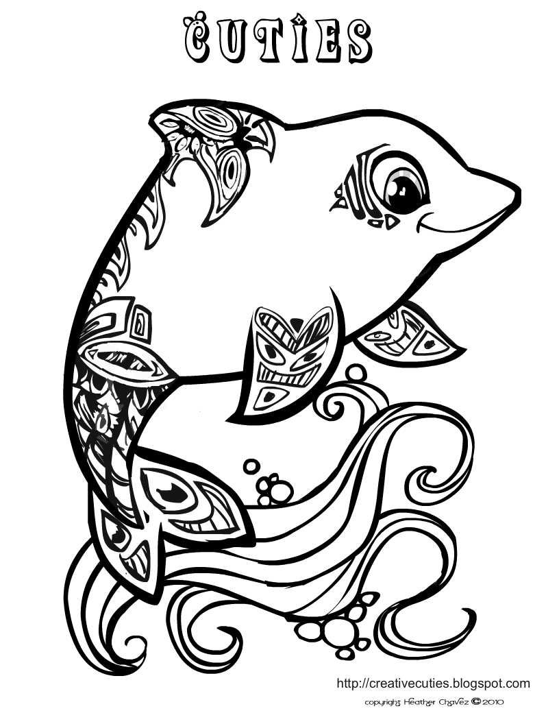Dolphin Coloring Page- Lots Of Other Really Cute Coloring Pages - Dolphin Coloring Sheets Free Printable