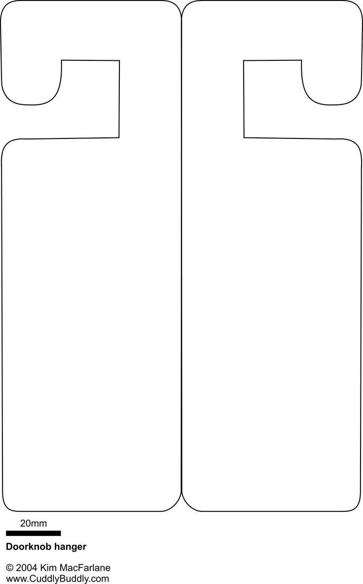 Door Hangers Templates - Ecosia - Free Printable Door Knob Hanger Template