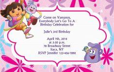 Dora The Explorer Free Printable Invitations
