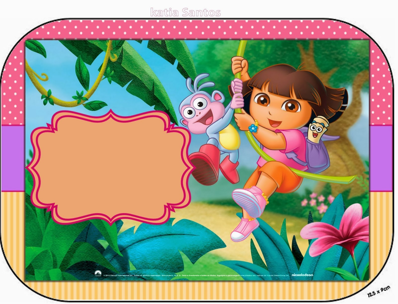 Dora The Explorer Free Printable Candy Bar Labels And Images. | Oh - Dora Birthday Cards Free Printable