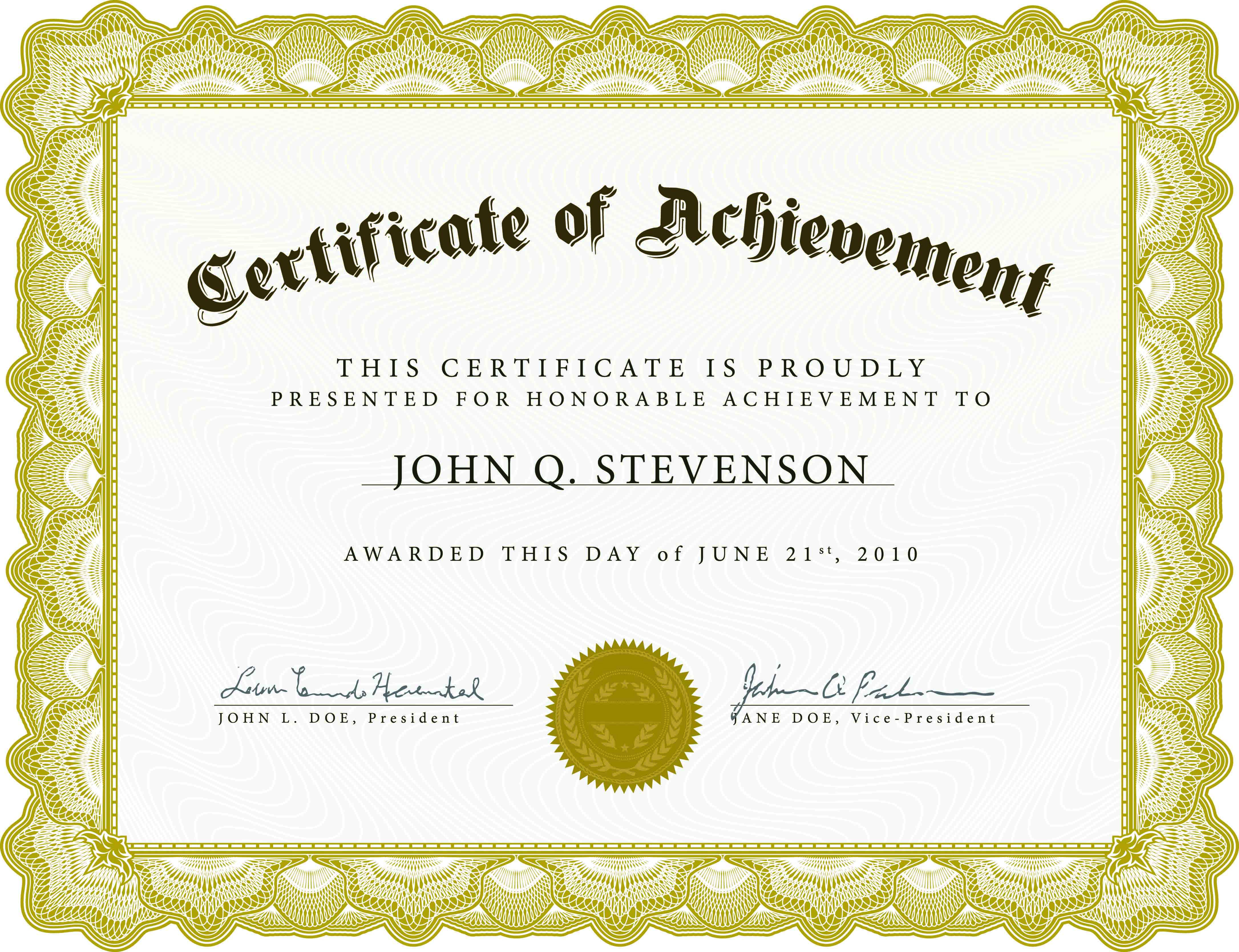 Download Blank Certificate Template X3Hr9Dto | St. Gabriel's Youth - Free Printable Award Certificates
