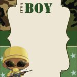 Download Free Camouflage Baby Shower Invitations Templates   Free Printable Camo Baby Shower Invitations