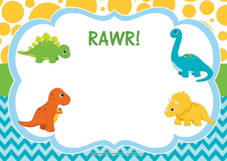 Download Free Dinosaur Birthday Invitations   Bagvania Invitation In - Free Printable Dinosaur Birthday Invitations