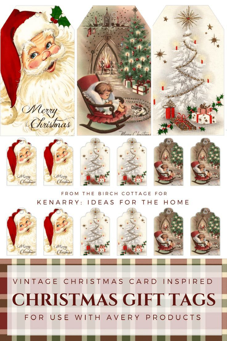 Download Free Printable Vintage Christmas Gift Tags For Holiday - Free Printable Vintage Christmas Pictures