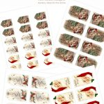 Download Free Printable Vintage Christmas Gift Tags For Holiday Wrapping   Free Printable Vintage Christmas Tags For Gifts