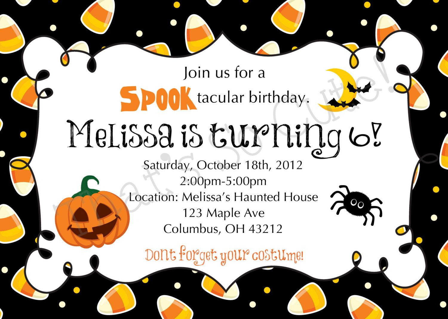Download Free Template Free Printable Halloween Birthday Party - Halloween Party Invitation Templates Free Printable