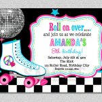 Download Free Template Free Printable Roller Skating Birthday Party   Free Printable Skateboard Birthday Party Invitations