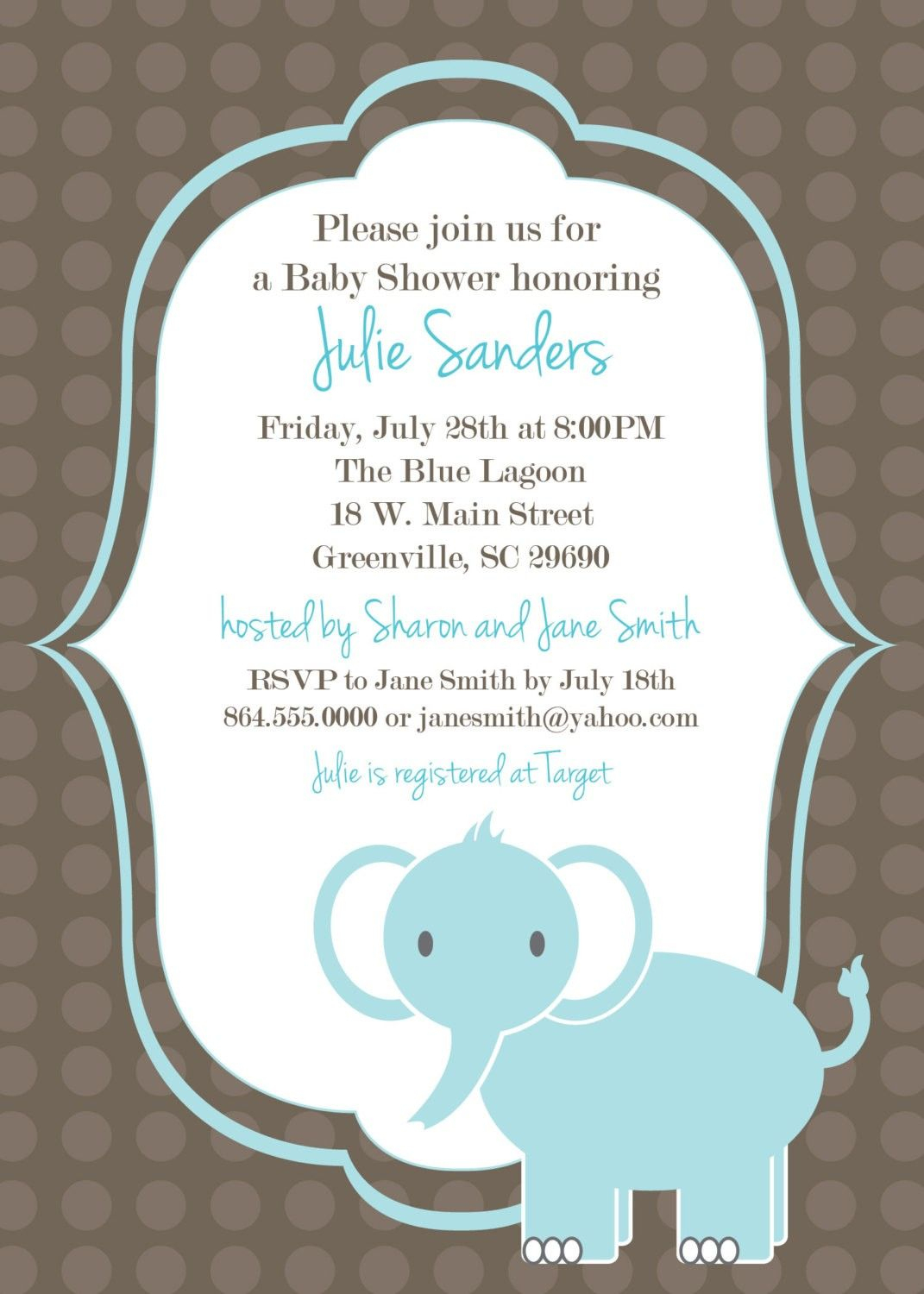 Download Free Template Got The Free Baby Shower Invitations - Free Printable Elephant Baby Shower Invitations