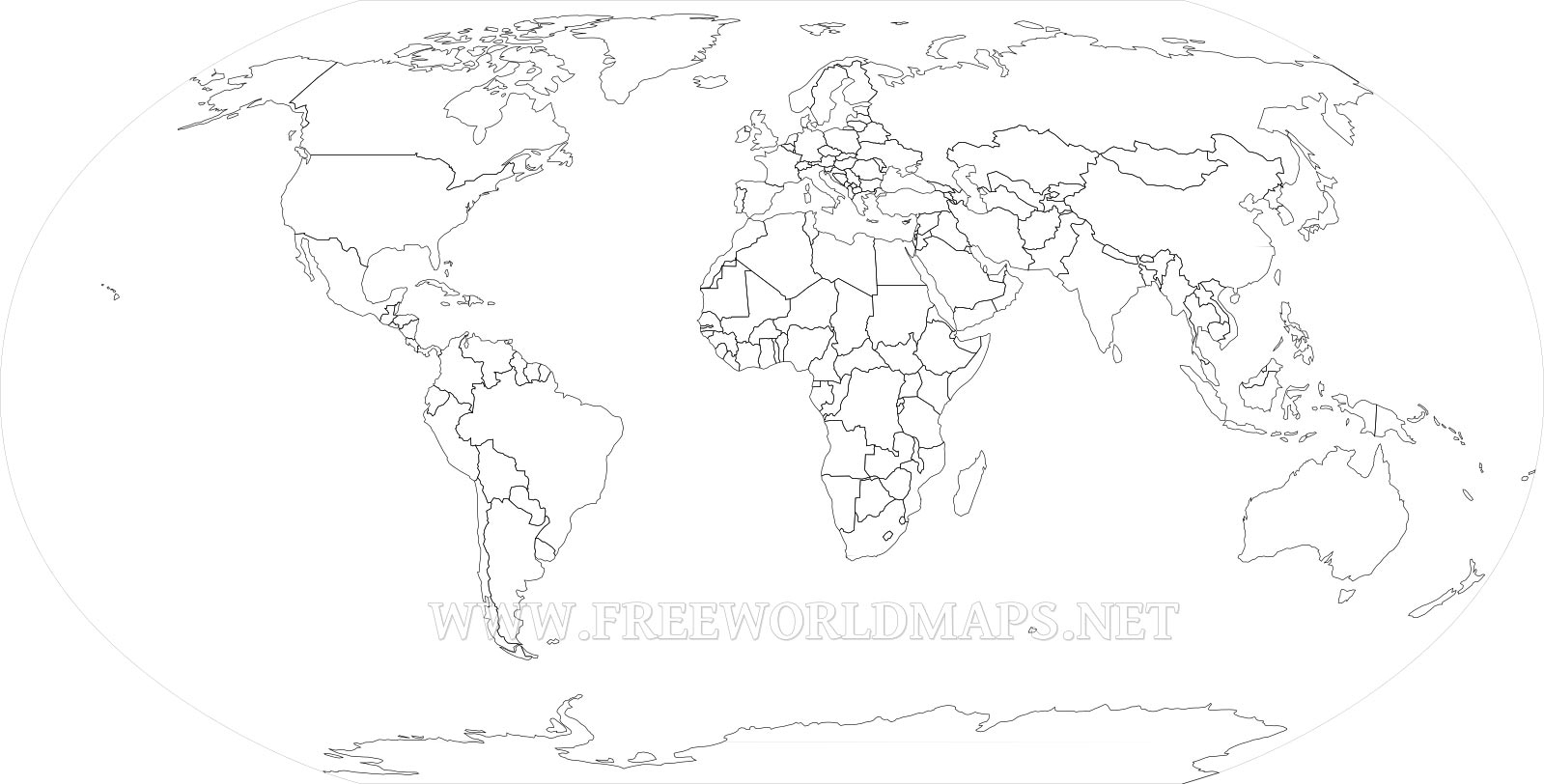 Download Free World Maps - Free Printable Blank World Map Download