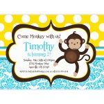 Download Now Free Monkey Birthday Invitations | Bagvania Invitation   Free Printable Monkey Birthday Party Invitations