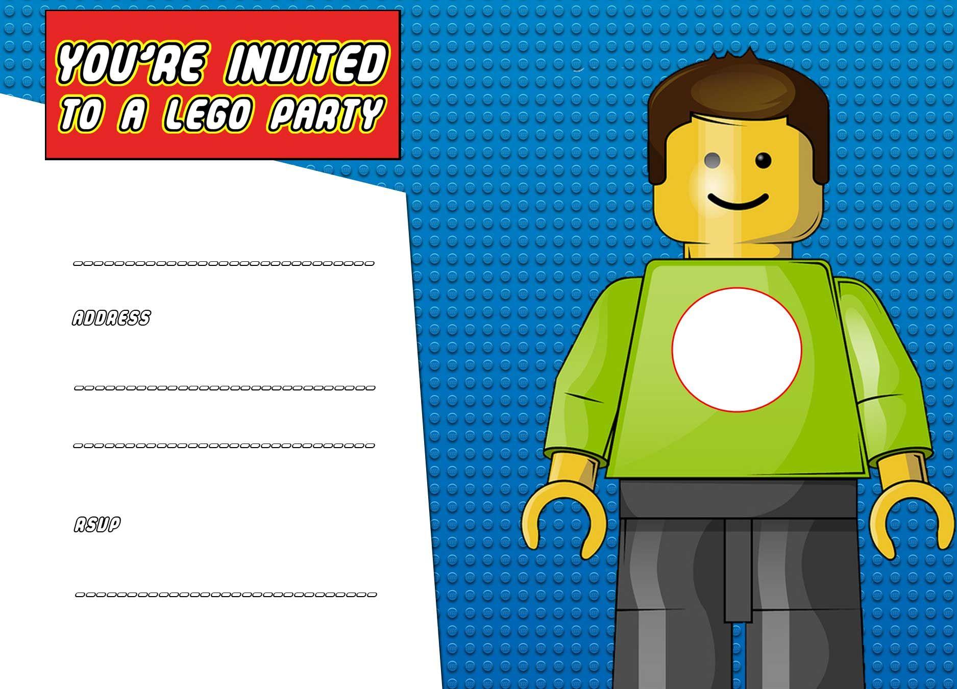 Download Now Free Printable Lego Birthday Invitation Template - Lego Party Invitations Printable Free
