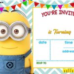 Download Now Free Printable Minion Birthday Invitation Templates   Thanks A Minion Free Printable