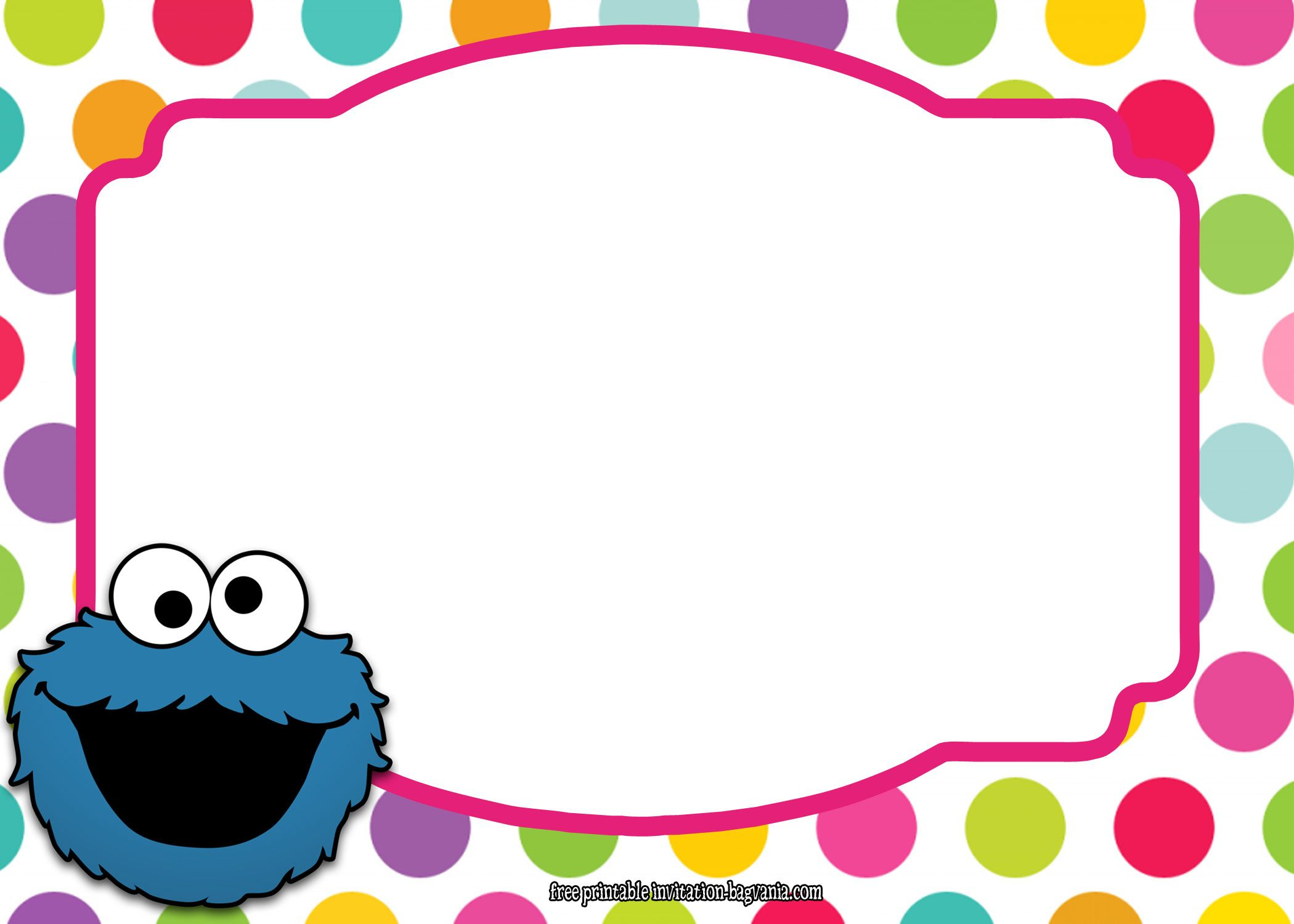 Download Now Sesame Street All Characters Invitation Template - Free Printable Cookie Monster Birthday Invitations