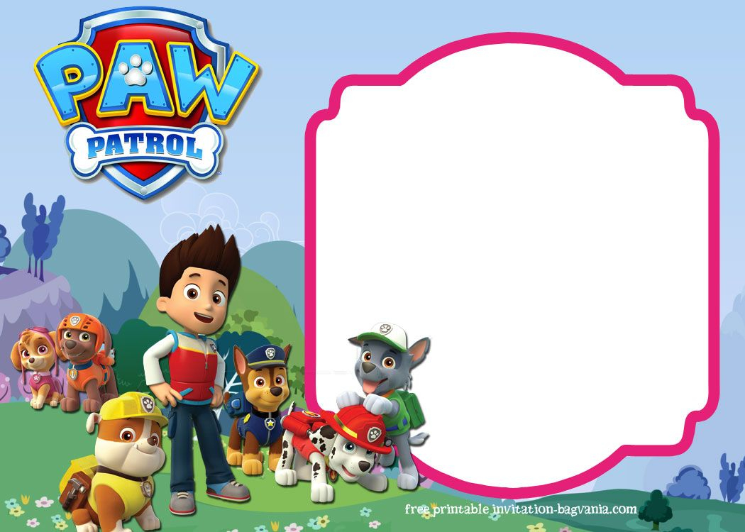 Download Paw Patrol Birthday Invitation Template - Most Complete - Free Printable Paw Patrol Invitations