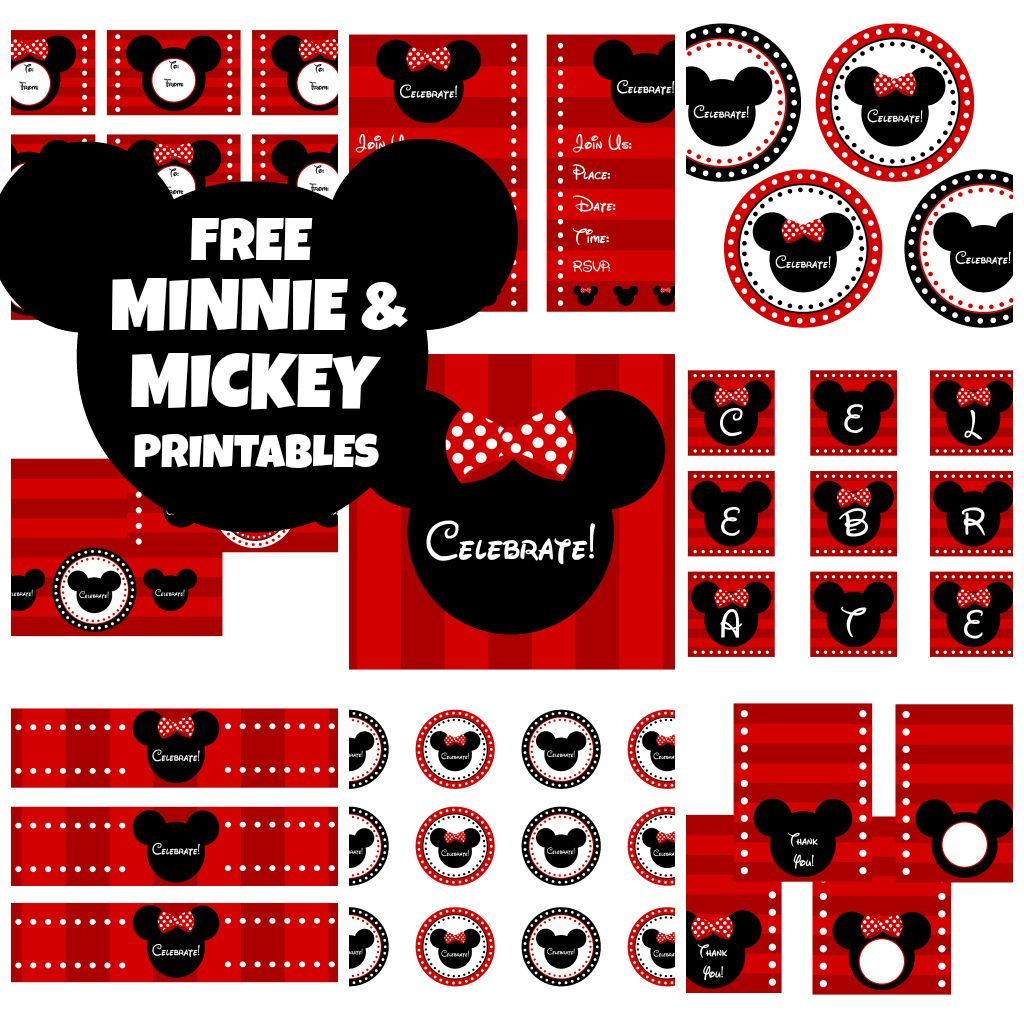 Download These Awesome Free Mickey & Minnie Mouse Printables - Free Printable Mickey Mouse Decorations