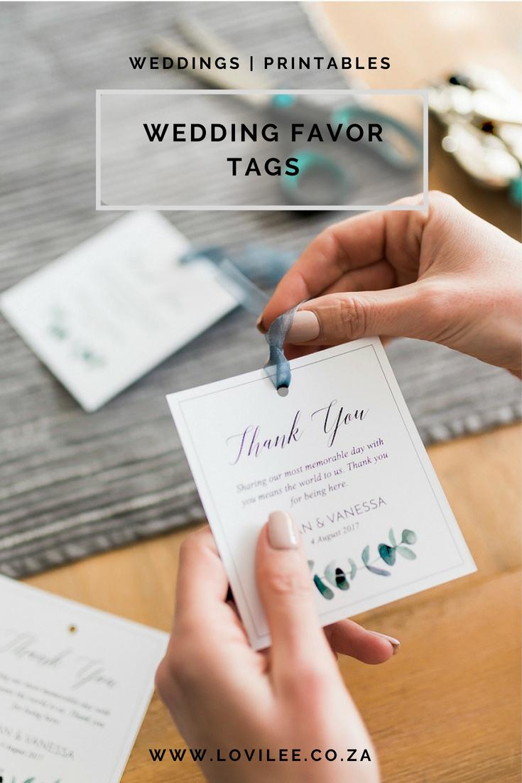 Download These Free Printable Wedding Thank You Tags | Lovilee Blog - Free Printable Wedding Favor Tags