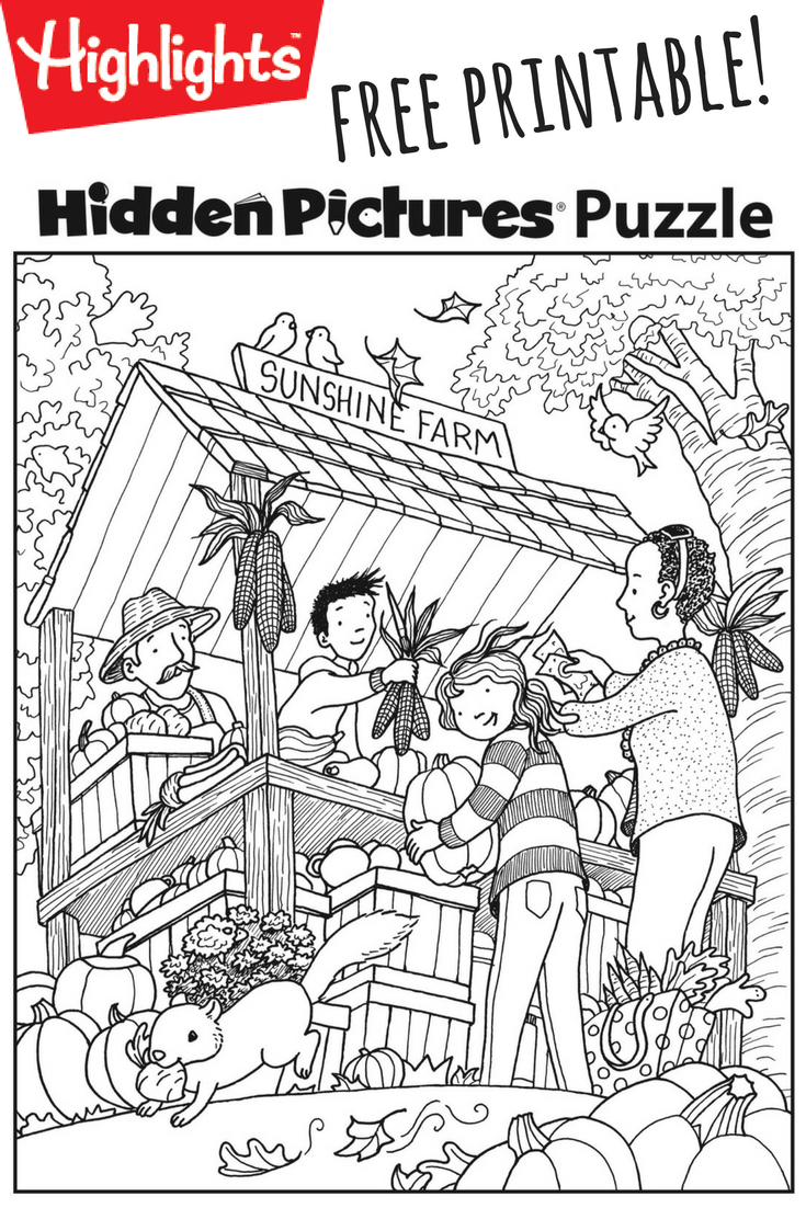 Download This Festive Fall Free Printable Hidden Pictures Puzzle To - Free Printable Hidden Pictures