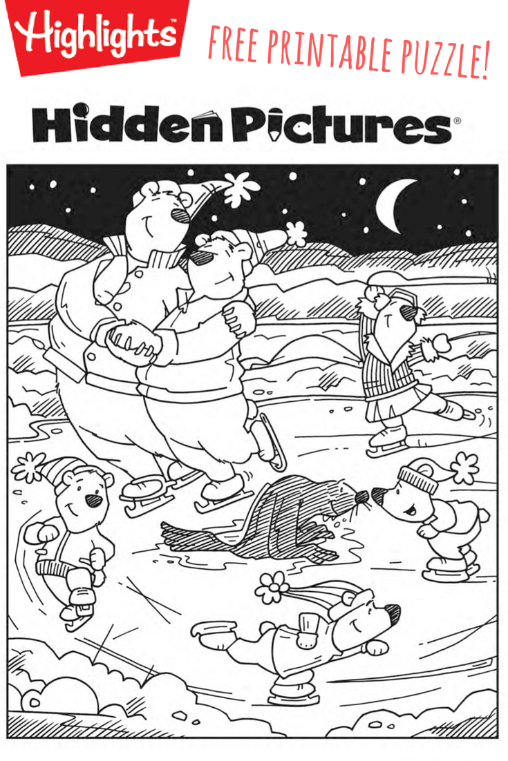 Download This Free Printable Winter Hidden Pictures Puzzle To Share - Free Printable Hidden Picture Puzzles For Adults