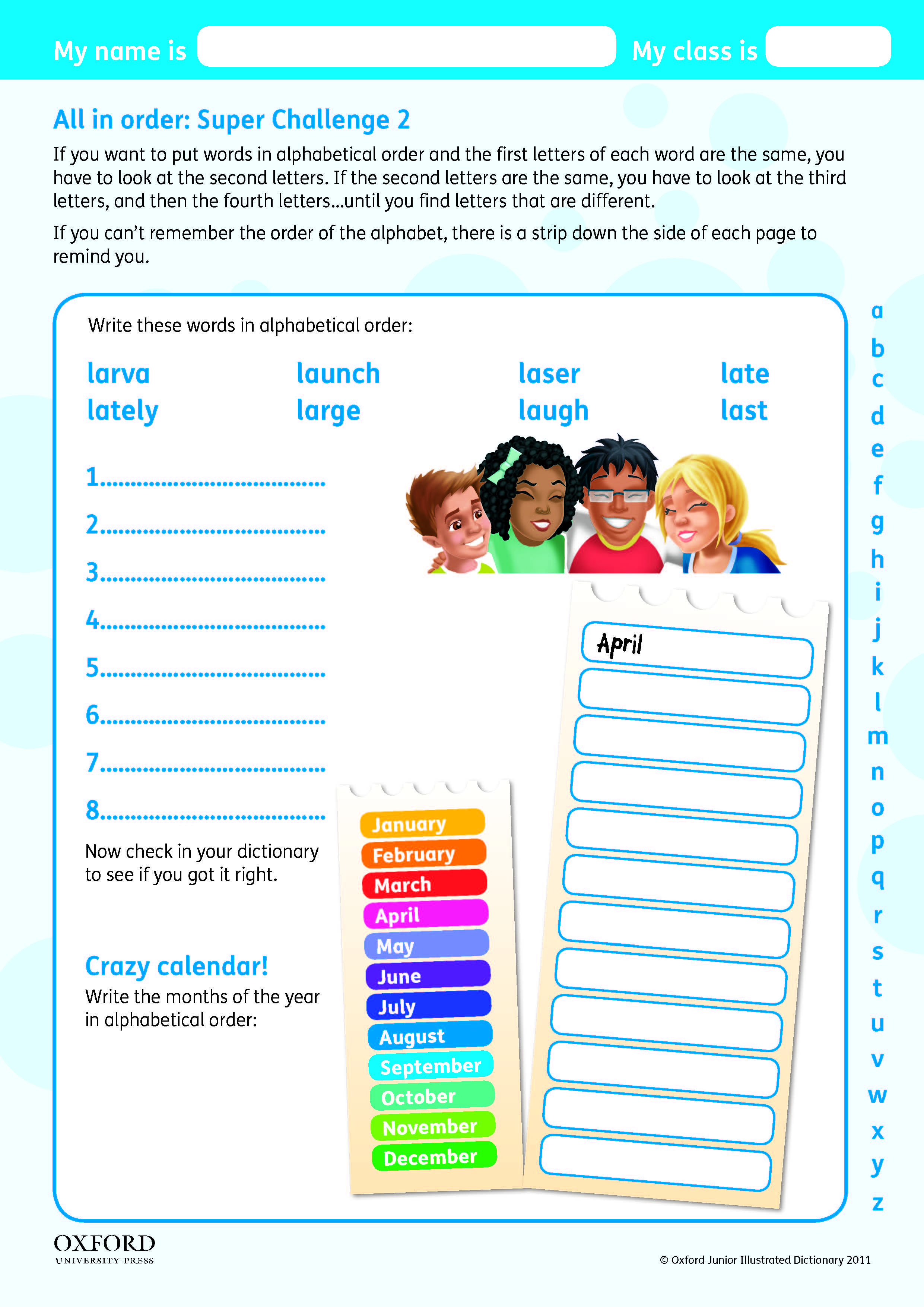 Download Your Free Oxford Primary Dictionary Super Challenge - Free Printable Picture Dictionary For Kids