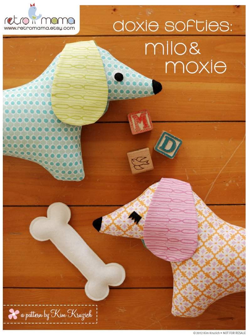 Doxie Stuffed Animal Sewing Pattern Tutorial Pdf Sewing   Etsy - Free Printable Dachshund Sewing Pattern
