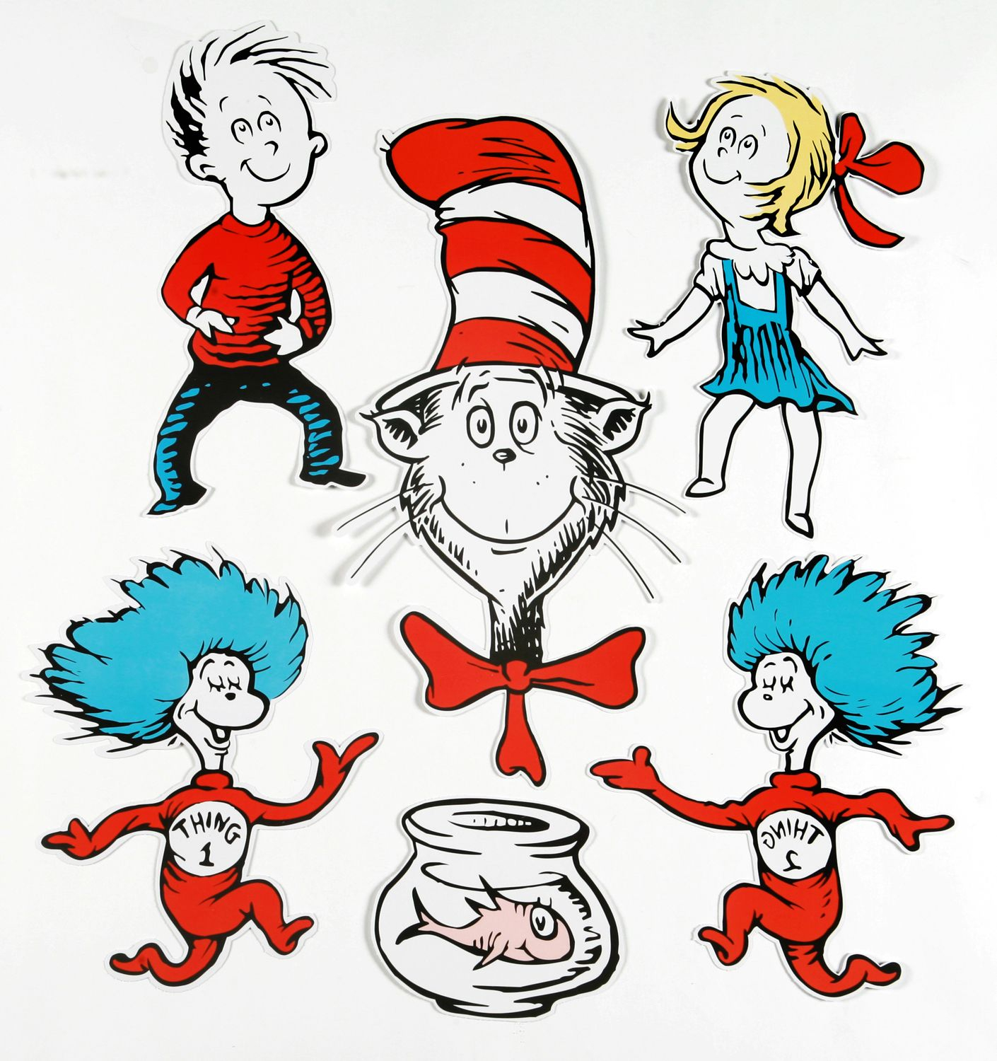 Dr. Seuss Characters | Large Dr. Seuss Characters 2-Sided Classroom - Free Printable Pictures Of Dr Seuss Characters