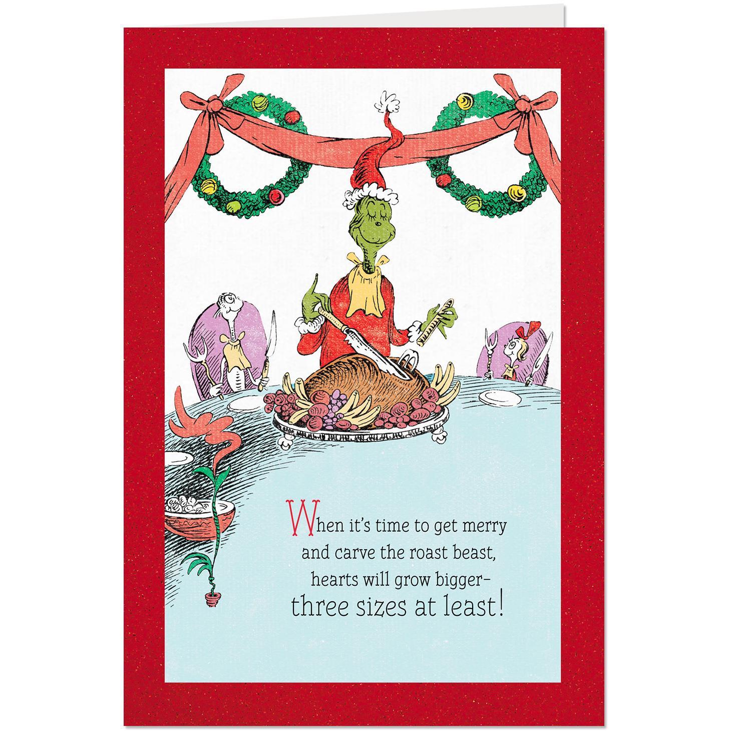 Dr. Seuss™ The Grinch's Christmas Feast Christmas Card - Greeting - Free Hallmark Christmas Cards Printable