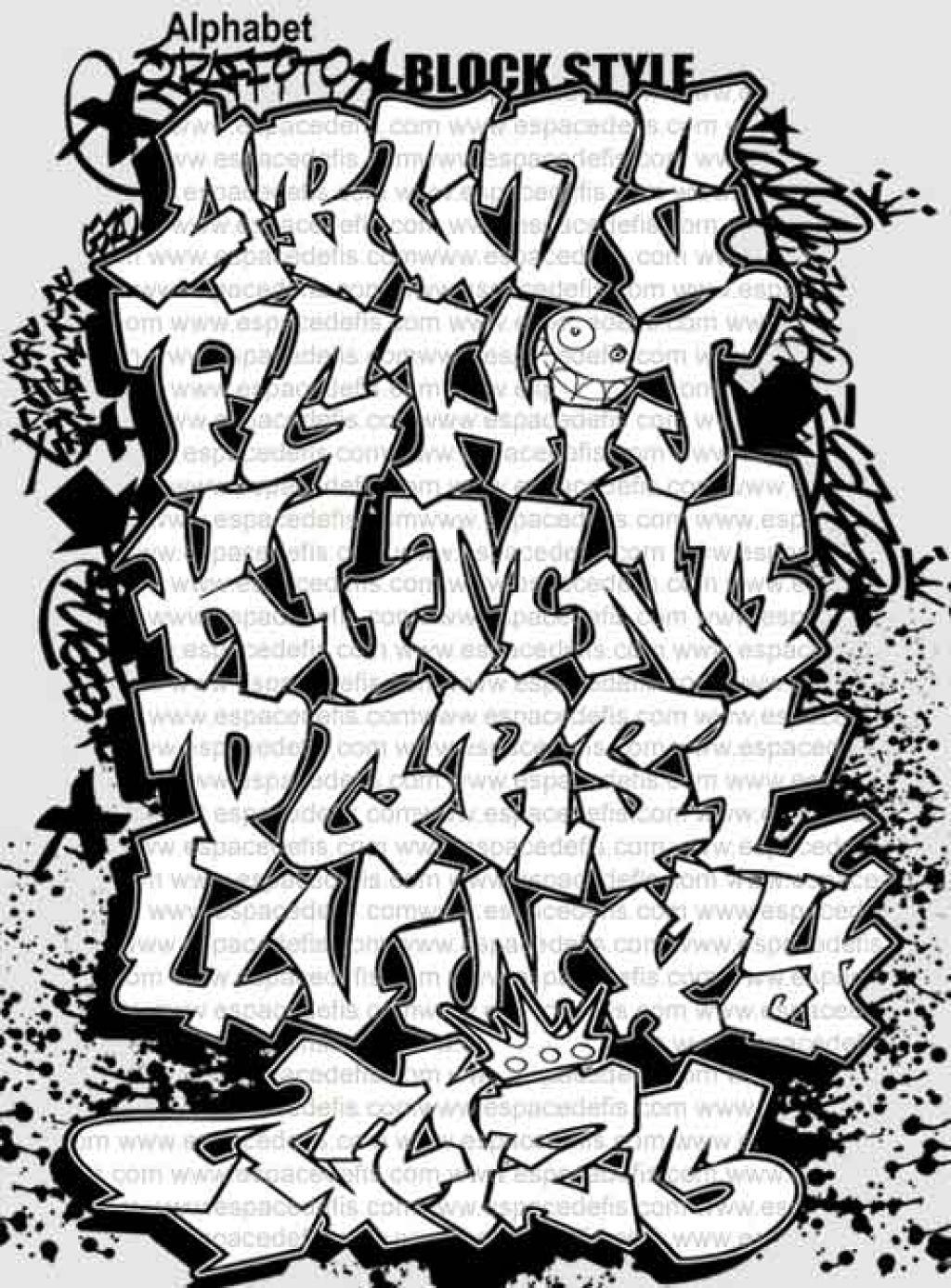 Draw Graffiti Letters Az Step Alphabet Amazing 3D Free Printable - Free Printable Graffiti Letters Az