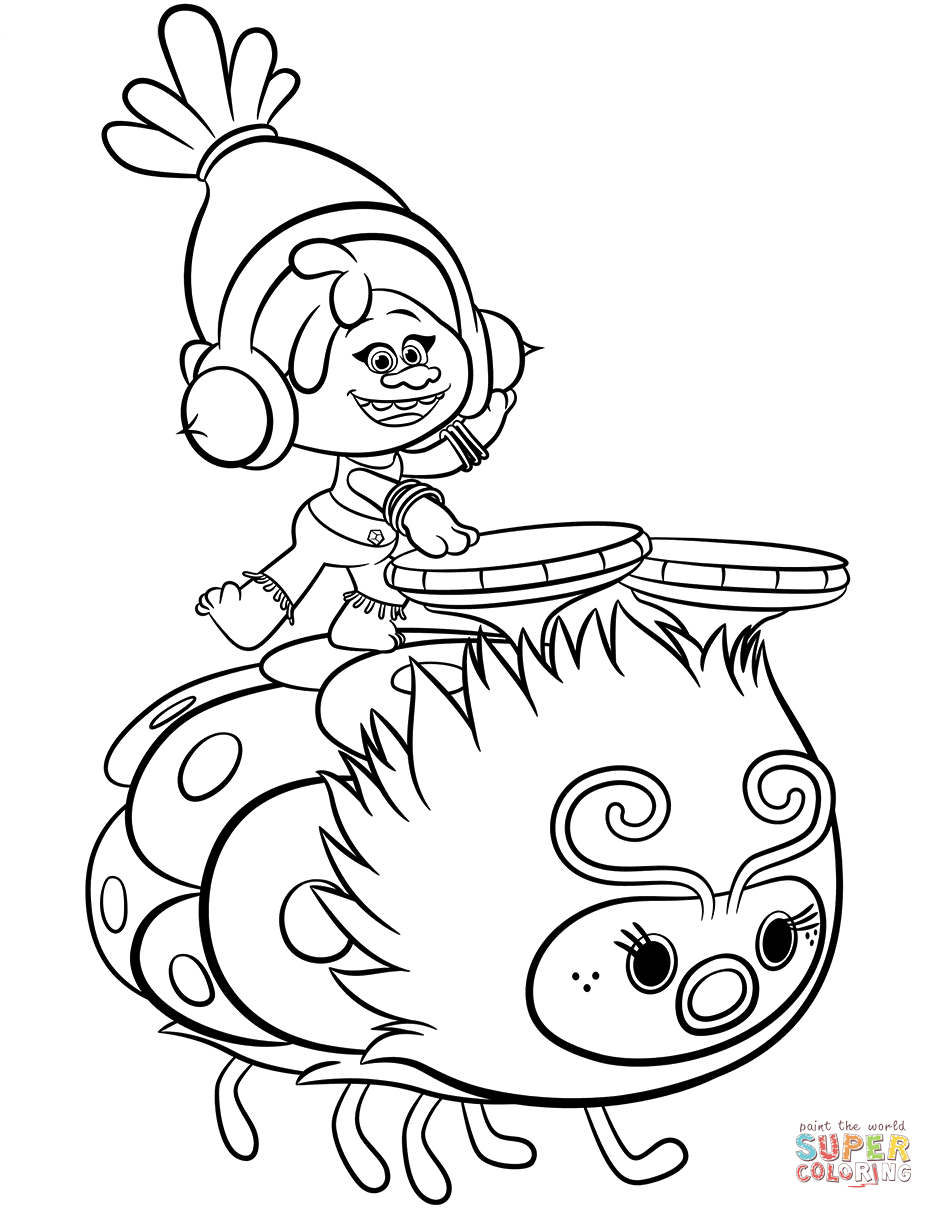 Dreamworks Trolls Coloring Pages | Free Coloring Pages - Free Printable Troll Coloring Pages