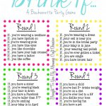Drink If… A Bachelorette Party Game {Free Printable} | Bachelorette   Free Printable Women's Party Games