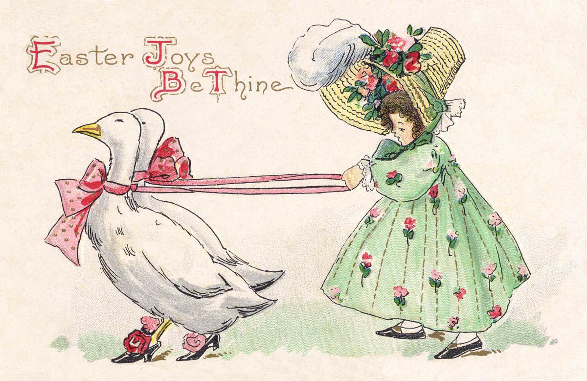Duck Duck Goose Free Printable - Amybarickmanamybarickman - Free Printable Vintage Easter Images