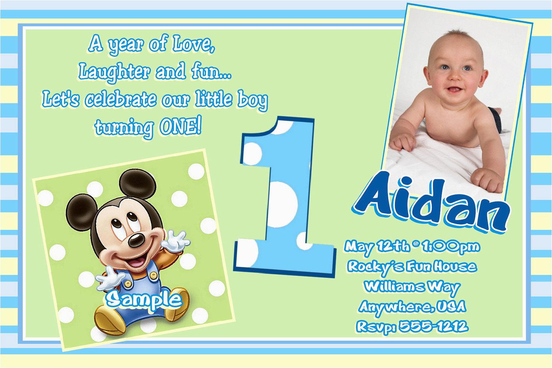 E Invitation For Baby Birthday | Birthdaybuzz - Free Printable Mickey Mouse 1St Birthday Invitations