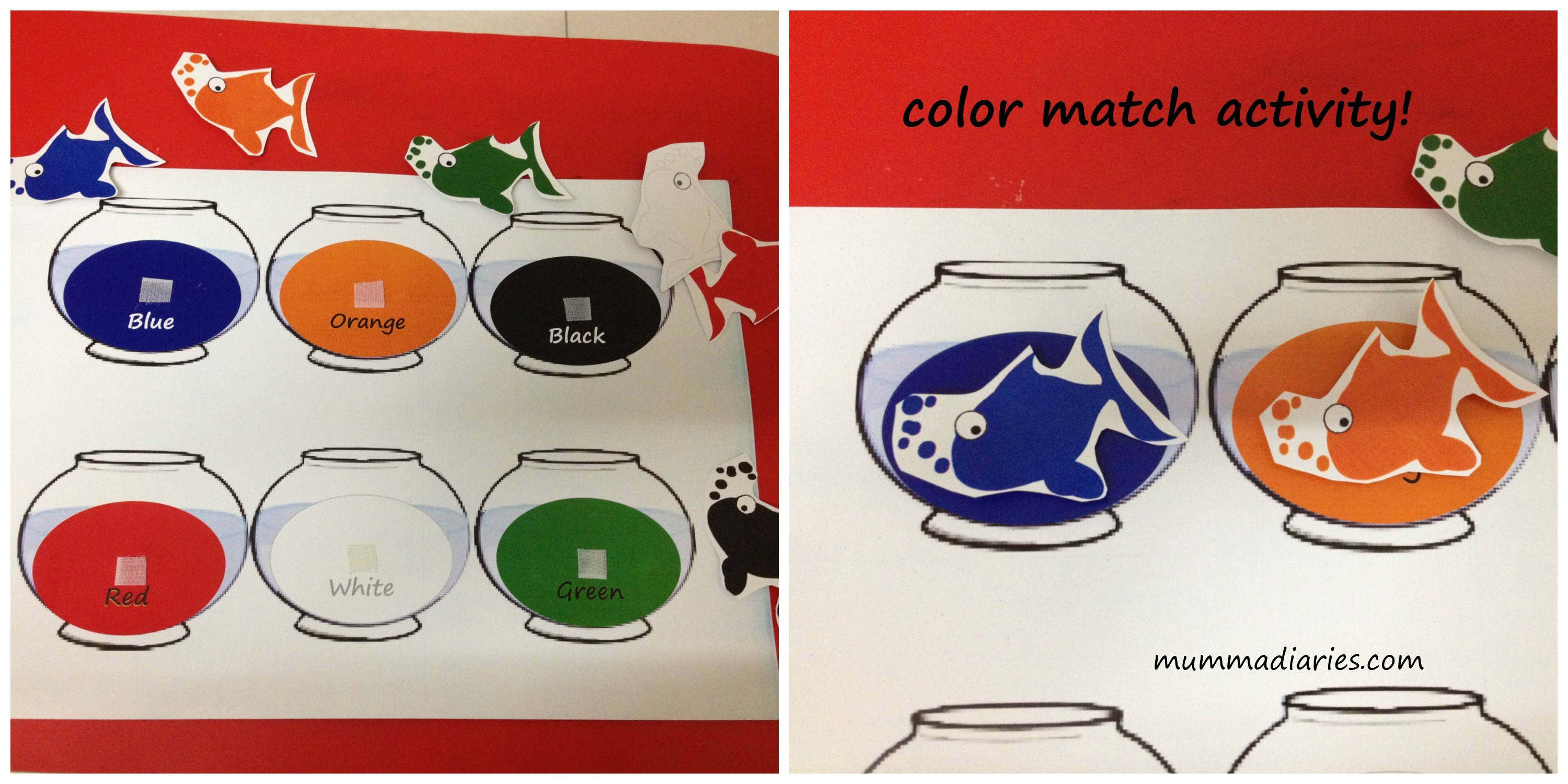√ 4 Best Images Of Free Printable Color Fish Matching Game - Free Printable Toddler Matching Games