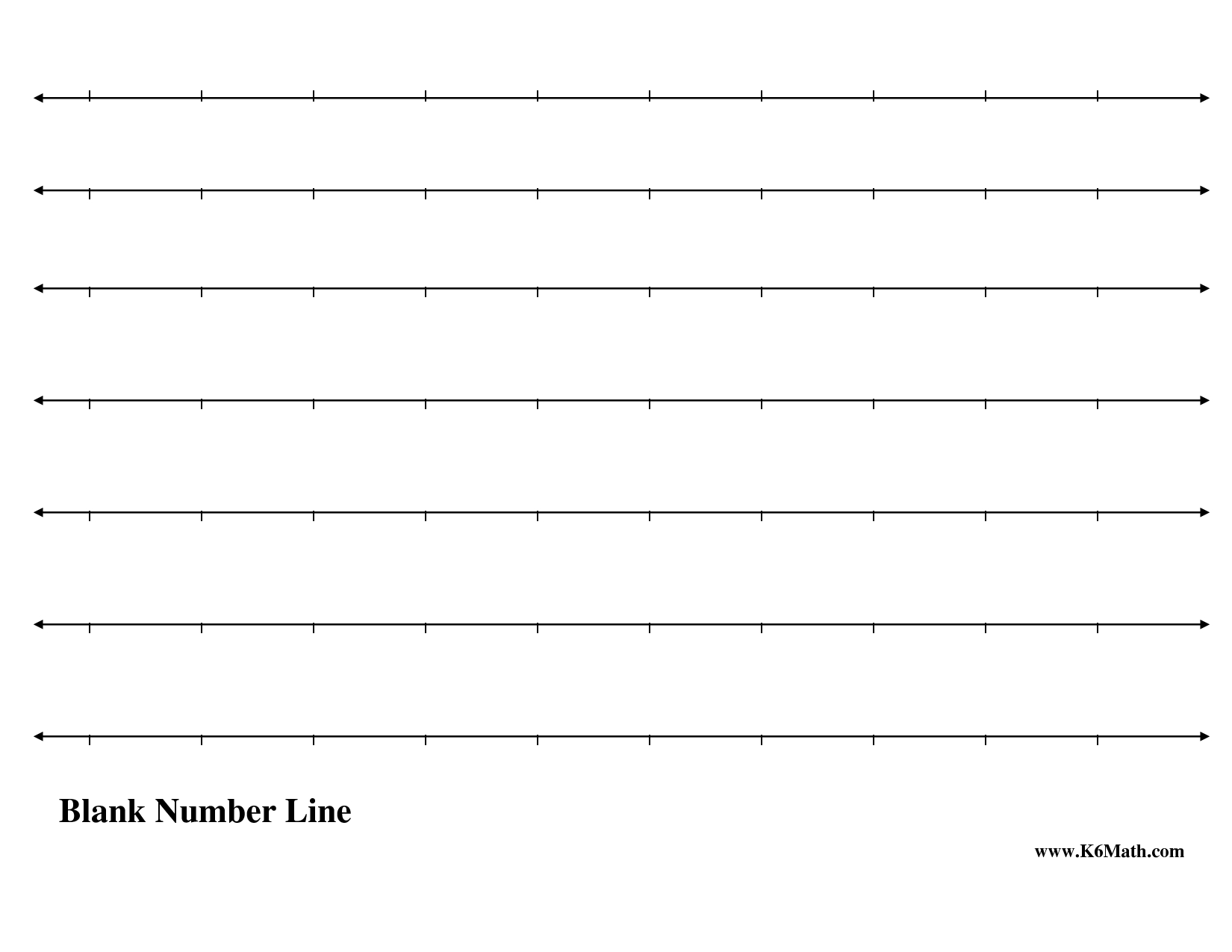 √ 5 Best Images Of Free Printable Number Line Worksheets - Free Printable Number Line Worksheets