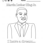 √ Free Printable Martin Luther King Jr. Coloring Worksheet   Free Printable Martin Luther King Jr Worksheets