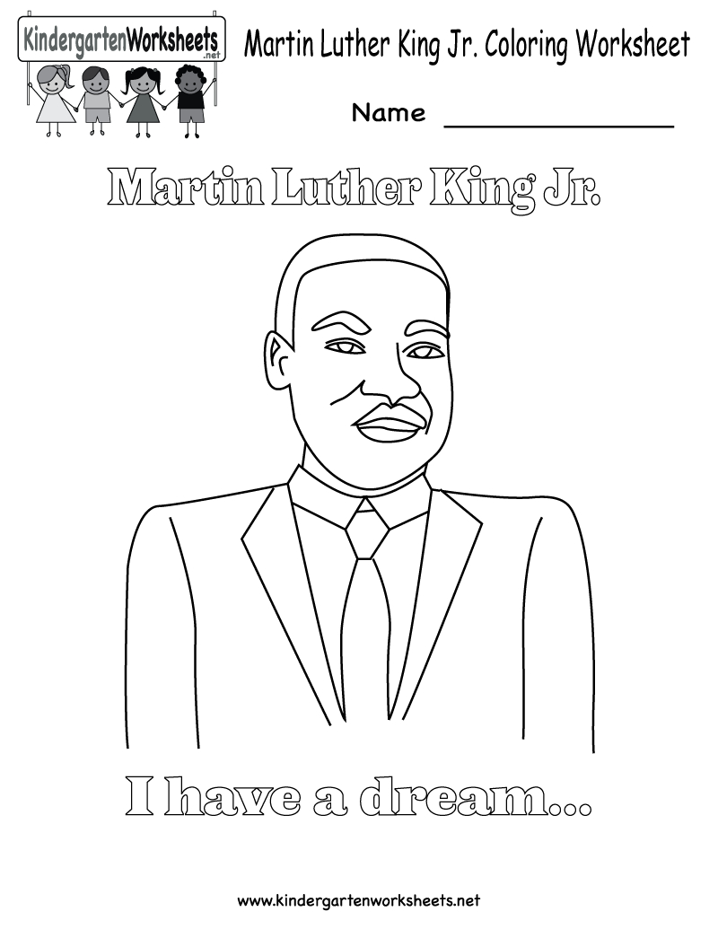 √ Free Printable Martin Luther King Jr. Coloring Worksheet - Free Printable Martin Luther King Jr Worksheets