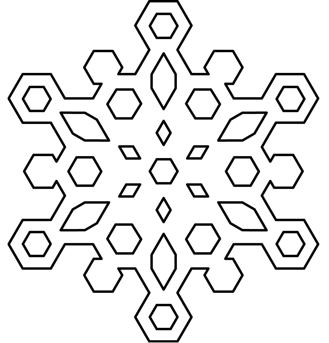 √ Free Printable Snowflake Coloring Pages For Kids - Free Printable Snowflakes