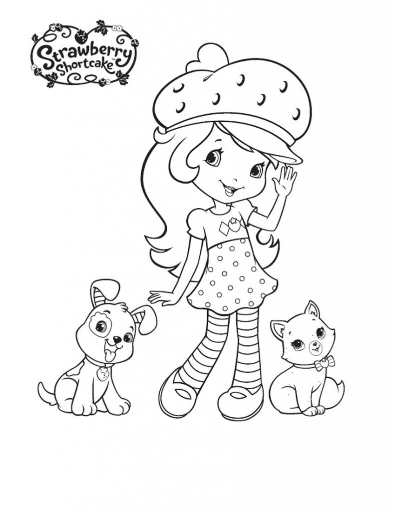 √ Free Printable Strawberry Shortcake Coloring Pages For Kids - Strawberry Shortcake Coloring Pages Free Printable