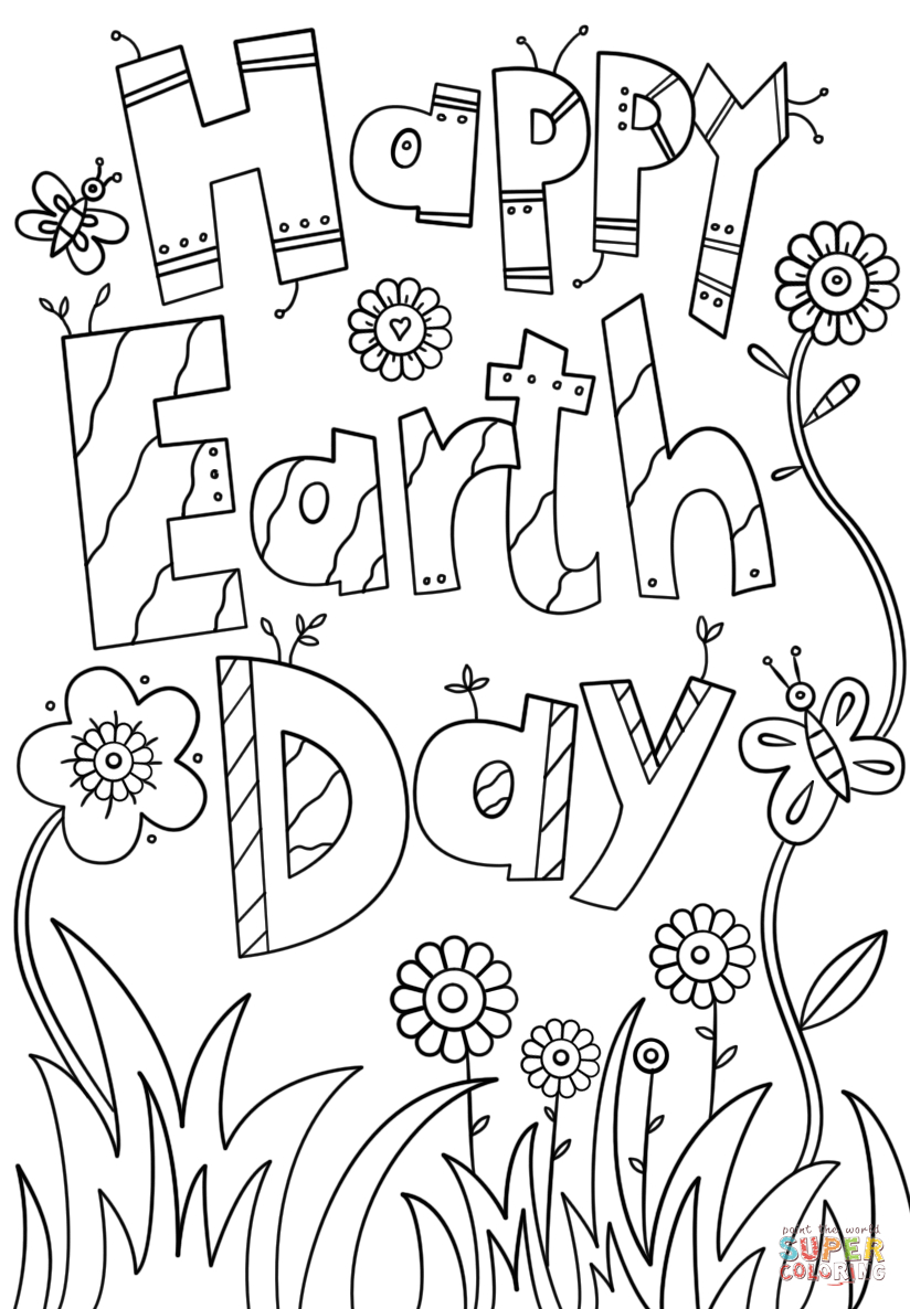 Earth Day Coloring Pages Happy Page Free Printable 824×1186 - Free Printable Earth Pictures