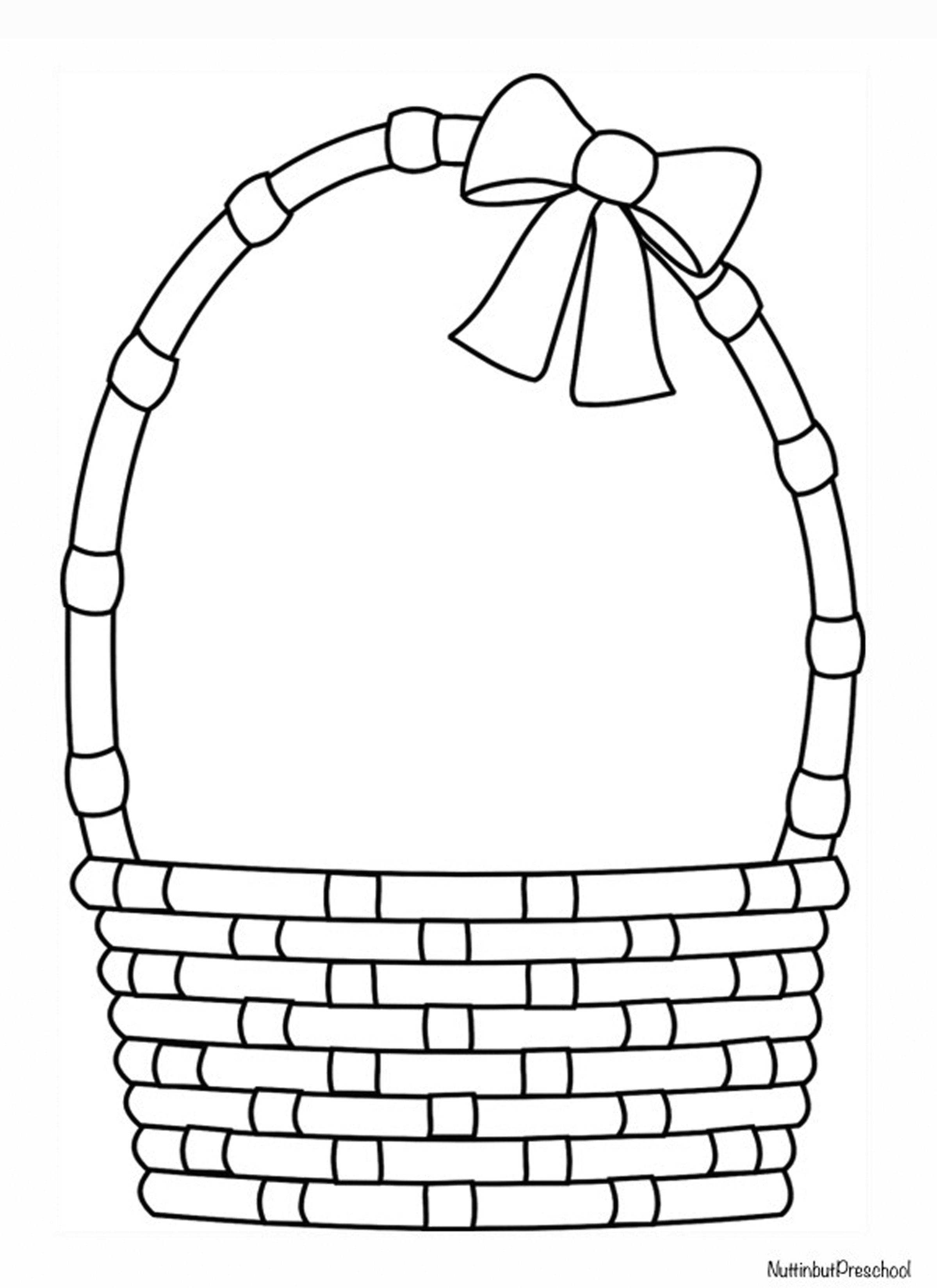 Easter Basket Pattern | Nuttin' But Preschool | Easter Craft - Free Printable Coloring Pages Easter Basket